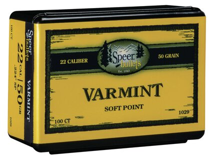Speer Varmint Soft Point Bullets .224 50gr Spitzer SP