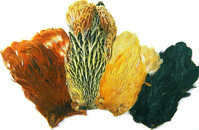 Fly Tying Irish Dyed Greenwell Hen capes