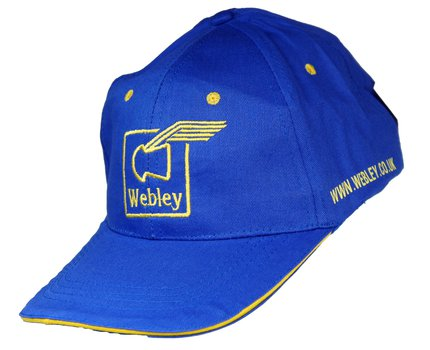 Webley Blue Webley Cap with Embroidered Logo (One Size)