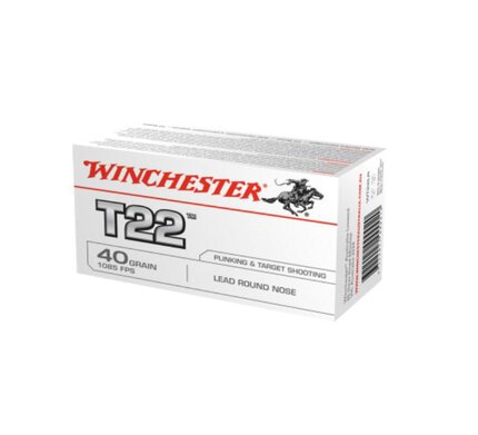 WINCHESTER T22 Subsonic .22 40Gr Rnd Nose x 50