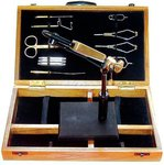 Airflo Expert Fly Tying Vice & Tools In Wood Case