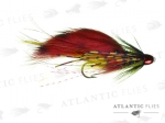 Atlantic Flies Snaelda Tiger Tail Red & Yellow & Black BC 0.75in