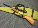 Preloved BSA Lightning XL .22 Air Rilfle with Scope and Bag - Excellent