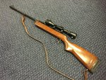 Preloved BSA Super Meteor MKIII .22 Air Rifle (TE Prefix 1969-73) with Scope - Used