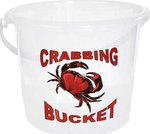 Crab Busters 9 Litre Clear Crab Bucket