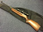 Preloved Edgar Bros Model 60 .22 Air Rifle with Scope and Bag - Excellent