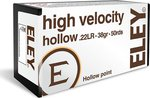 Eley .22 LR High Velocity 38 Grain Hollow Point (50 Box)