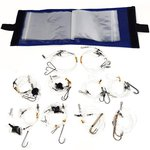 Fisheagle Rig Wallet and 10 Assorted Bait Rigs