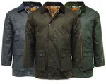 Game Waxed Cotton Padded Jacket