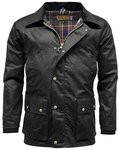 Game Mens Barker Wax Jacket With Detachable Hood