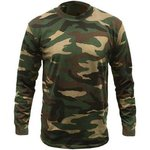 Game Mens Woodland Camouflage Long Sleeve T-Shirt
