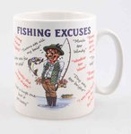 "Just Fish ""Fisherman's Excuses"" Mug"