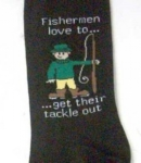 Just Fish Fisherman Get Their Tackle Out Socks
