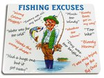 Just Fish Fisherman's Excuses Wooden Placemat