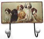 Just Fish Hunting Puppies Double Wall Hooks