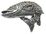 Just Fish Pewter Pike Lapel Pin