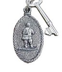 Just Fish Pewter Fisherman Keyring