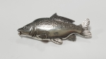 Just Fish Pewter Pin Leather Carp