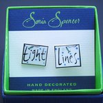 Just Fish Hand Painted Bone China Cufflinks - Tight Lines
