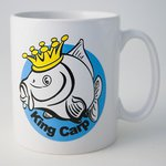 Just Fish King Carp Earthenware Mug Boxed
