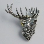 Just Fish Pewter Lapel Pin Stag