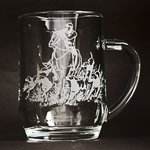 Just Fish Tankard Pint Glass with engraved Horse & Hounds