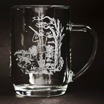 Just Fish Tankard Pint Glass with engraved Shooting