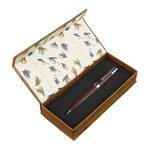 Just Fish Ted Baker Brown Brogue Leather Pen in Fishing Flies Box