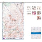Live Venture SoftFibre OS Map Towel - Giant Mountain Map Towel