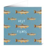 Mayfly Art Best Fishes Trout Greetings Card