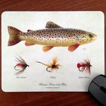 Mayfly Art Trout And Flies Mouse Pad