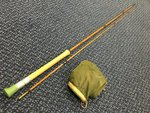 Milbro Preloved - March Brown 8ft Glass Fishing Rod (Restoration Project) - Used