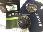Orvis Preloved - Battenkill I Black Nickel Fly Reel with Spare Spool - As New