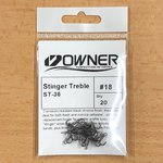 Owner ST-36 Stinger Treble Hooks 20pc