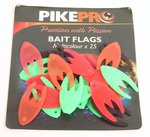 PikePro Multi-Coloured Bait Flags 25pc