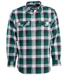 Pinewood Texas Flannel Shirt Green/White