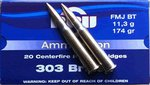 PPU .303 British FMJ Boat Tail 174gr (20 Box)