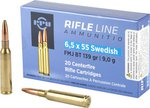 PPU 6.5x55 Swedish FMJ Boat Tail 139gr (20 Box)