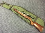 Preloved Remington Express .177 Air Rifle With Scope Silencer and Bag - Used
