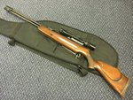 Preloved SMK Model 20M .22 Air Rifle with Scope and Bag - Used
