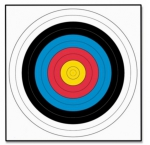 Solutions 60cm Archery Target Faces (10 pack)