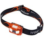 TF Gear Night Spark Head Torch (White + Red Led)
