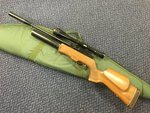 Preloved Theoben Rapid 7 MK1 .22 Air Rifle with Scope Silencer and Bag - Used