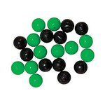 Tronixpro Round Beads Black/Green 8mm