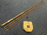Preloved Wallace & Kerr Edinburgh/Dundee Built Cane 12ft Fly Rod (2 Tips and Bag) - Used