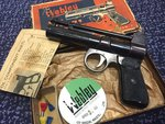 Preloved Webley Junior Series 2 .177 Air Pistol (1952-1958) Boxed With Papers - Excellent