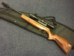 Preloved Webley Longbow .22 Air Rifle with Scope Silencer and Bag - Excellent