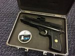 Preloved Webley Nemesis .177 Pneumatic Air Pistol with Laser and Case - Used