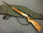 Preloved Webley Omega Carbine .22 Air Rifle with Scope and Bag - Used