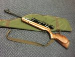 Preloved Webley Stingray Carbine .22 Air Rifle with Scope and Bag - Excellent